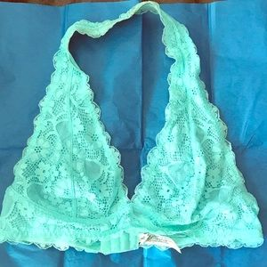Free People bralette Top mint green size large